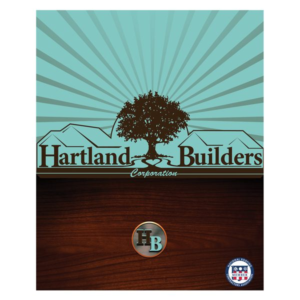 Hartland Builders Wood Grain Presentation Folder (Front View)