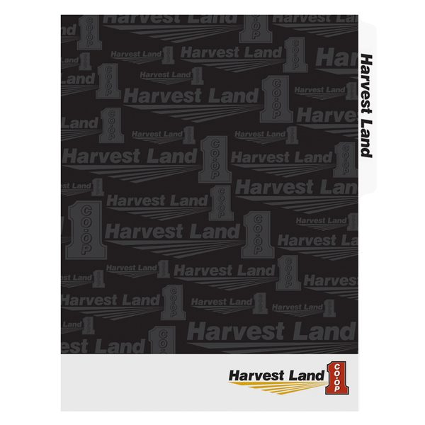 Harvest Land Co-Op Tabbed Presentation Folder (Front View)