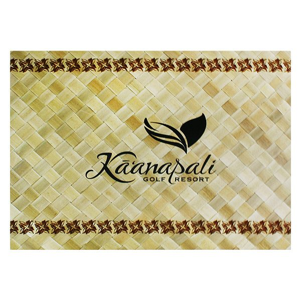 Ka'anapali Hawaiian Golf Resort Photo Folder (Front View)