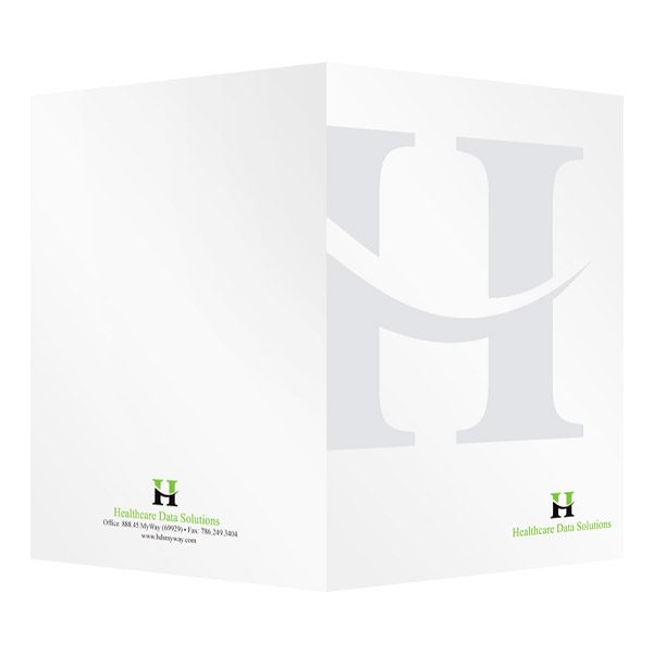 Healthcare Data Solutions Medical Logo Folder (Front and Back View)