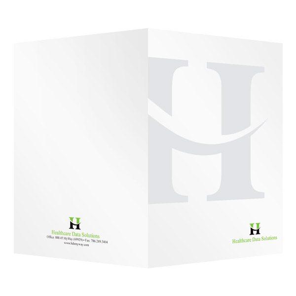 folder design bi fold folders for healthcare data solutions