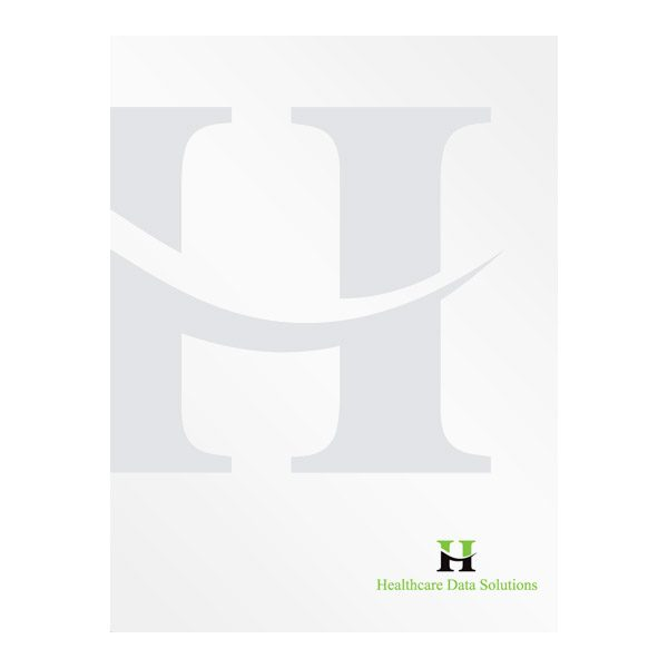 Healthcare Data Solutions Bi-Fold Folders (Front View)