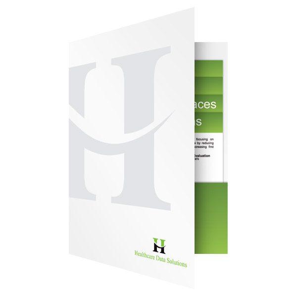 HDS Bi-Fold Presentation Folders (Front Open View)