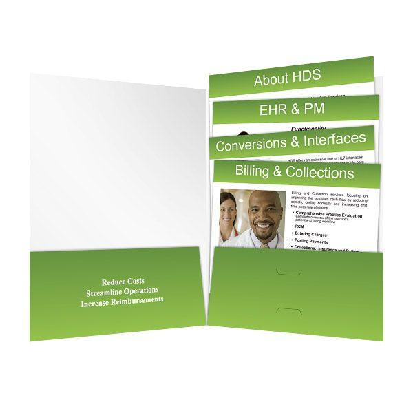 HDS Bi-Fold Pocket Folders (Inside View)