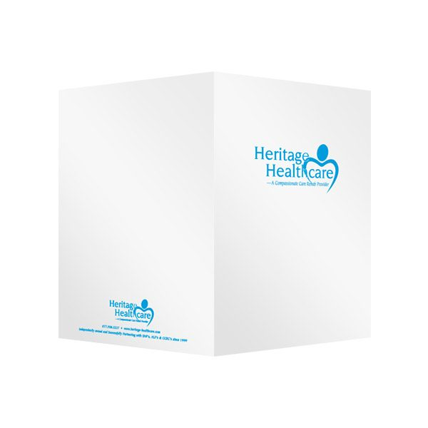 Heritage Healthcare Marketing Folder (Front and Back View)