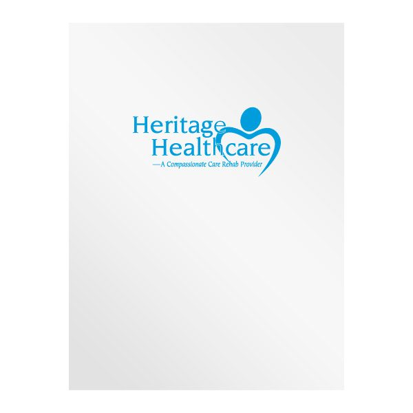 Heritage Healthcare Rehabilitation Center Presentation Folder (Front View)