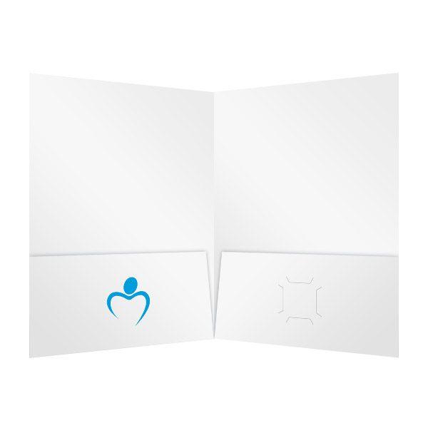 Heritage Healthcare Blue Medical Logo Folder (Inside View)