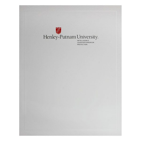 Henley-Putnam University Pocket Folder (Front View)