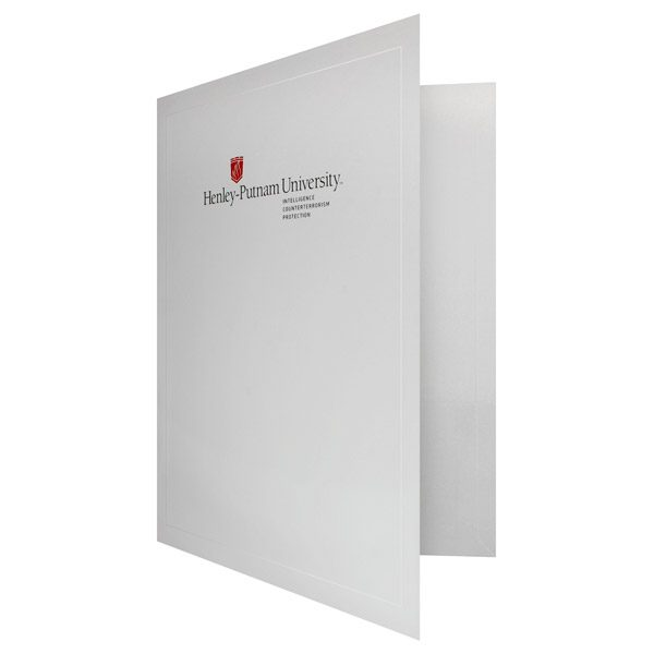 University Pocket Folders for Henley-Putnam University (Front Open View)