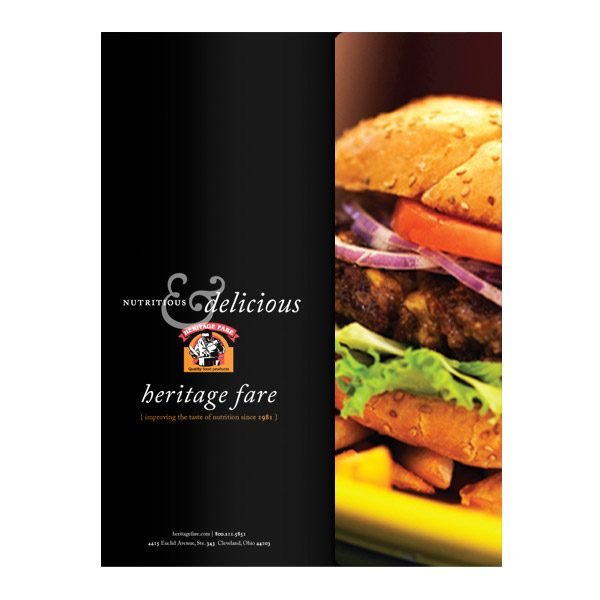 Heritage Fare Specialty Food Presentation Folder (Front View)