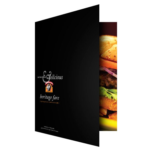 Heritage Fare Food Restaurant Business Folder (Front Open View)