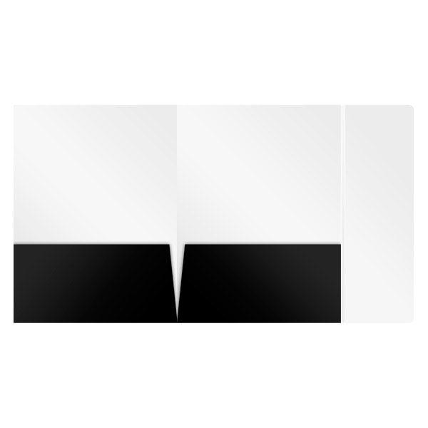 Heritage Fare Black Pocket Tri-Panel Folder (Inside View)