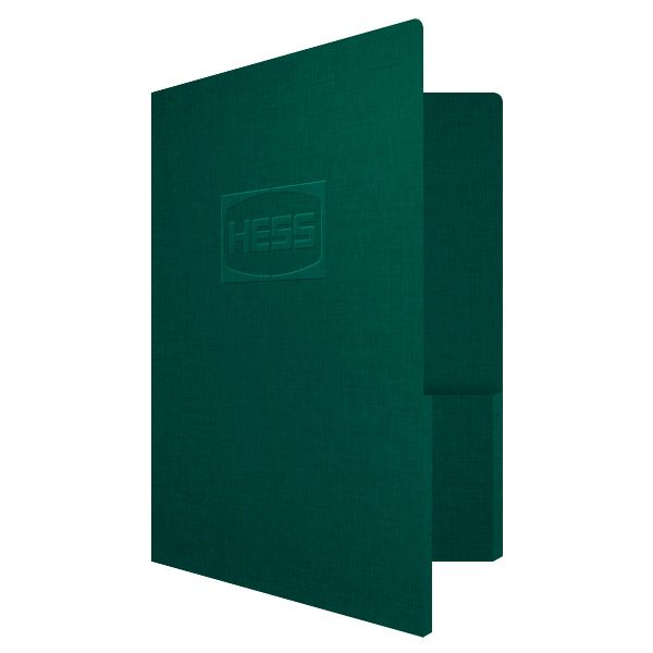 Hess Corporation Embossed Presentation Folder (Front Open View)