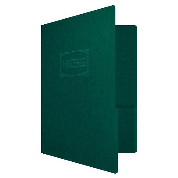 Hess Corporation Embossed Presentation Folder (Front Open View)