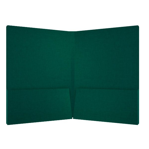 Hess Pine Green Linen Presentation Folder (Inside View)