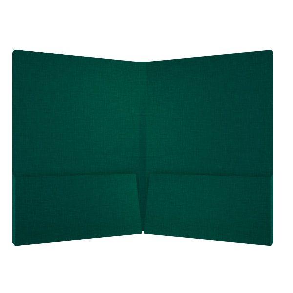 Hess Pine Green Linen Presentation Folder (Inside View)