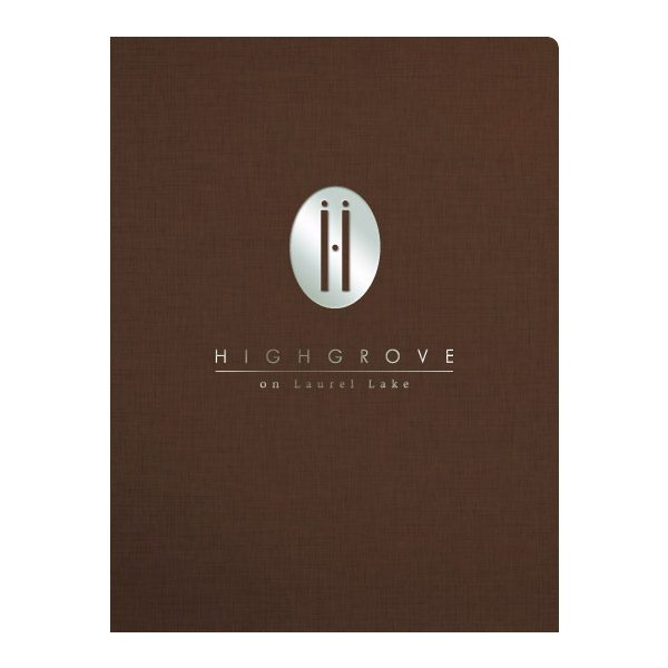 Highgrove Wedding Venue Presentation Folder (Front View)
