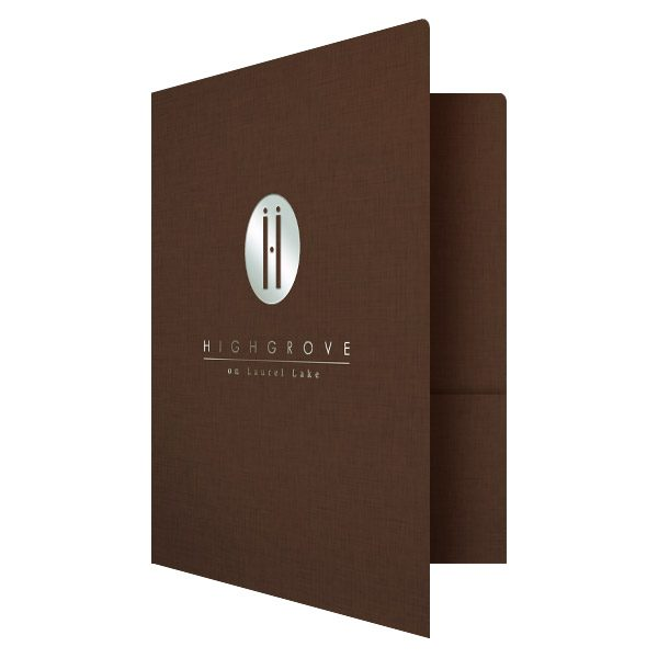 Highgrove Wedding Business Folder (Front Open View)
