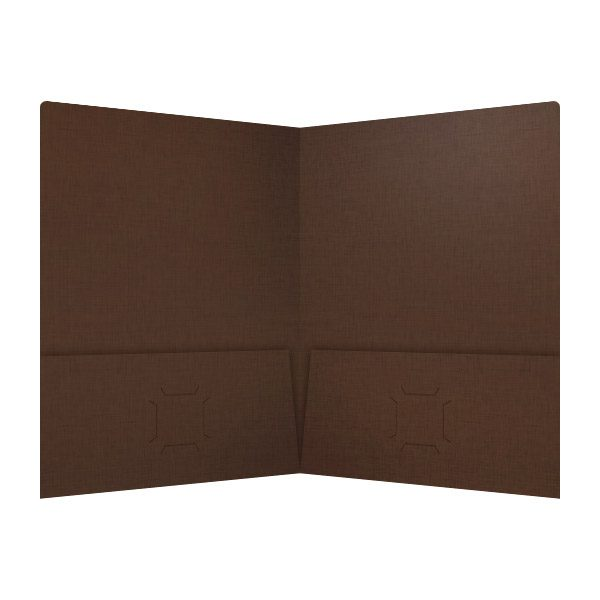 Highgrove Brown Wedding Pocket Folder (Inside View)