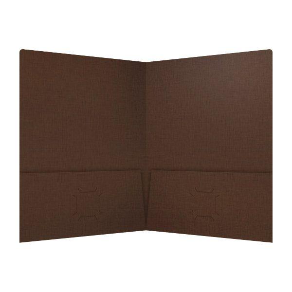 Highgrove Brown Wedding Pocket Folder (Inside View)
