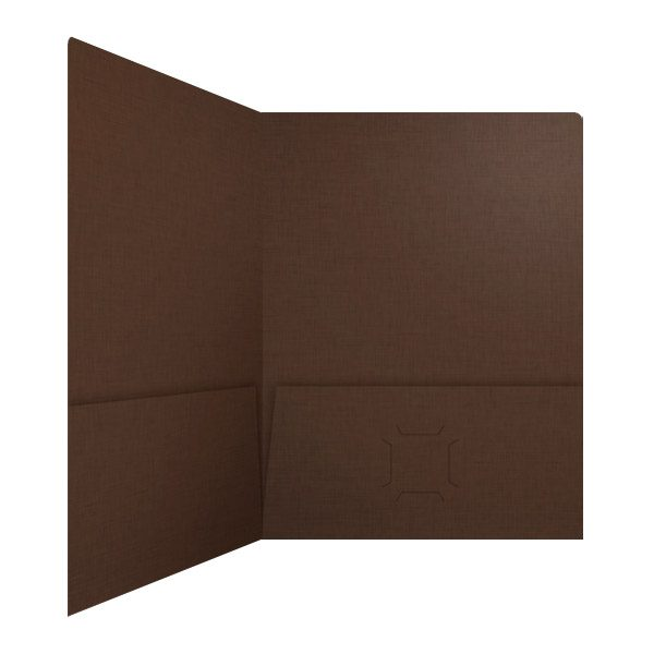 Highgrove Brown Pocket Folder with Business Card Slits (Inside Right View)
