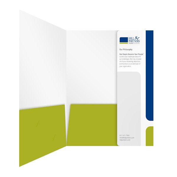 Hill & Partners 3 Panel Pocket Folder (Inside Panel View)