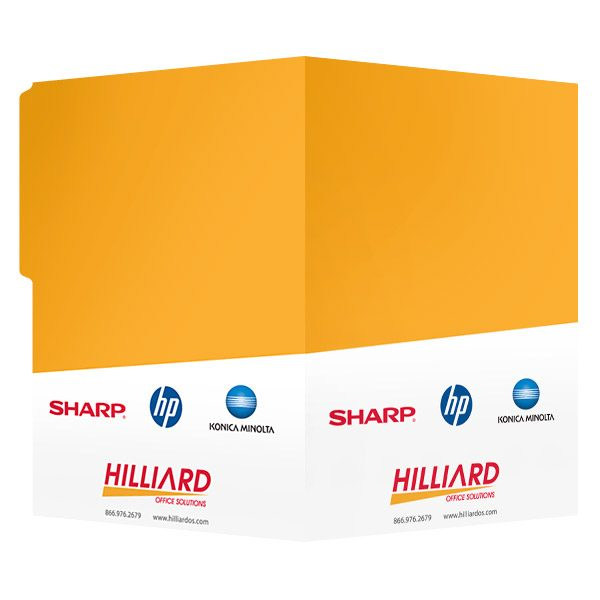 Hilliard Office Solutions 2-Pocket File Folder (Front and Back View)