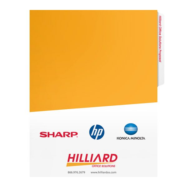 folder design proposal presentation folders for hilliard office