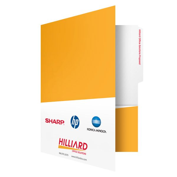 Hilliard Business Proposal File Folder (Front Open View)