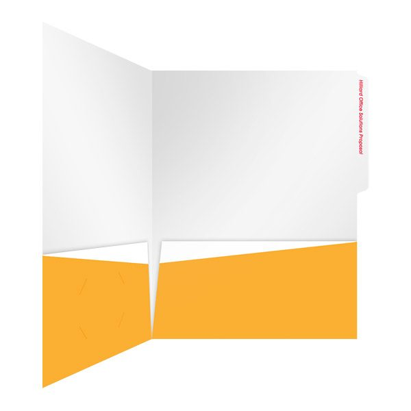 Hilliard Tabbed Presentation Folder (Inside Right View)