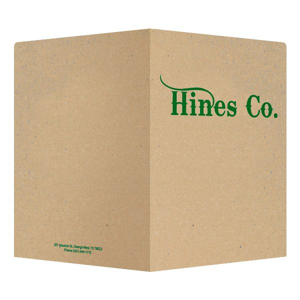 Hines Co. Kraft Pocket Folder (Front and Back View)