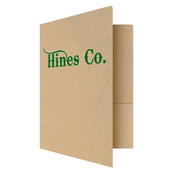 Hines Co. Recycled Paper Folder (Front Open View)