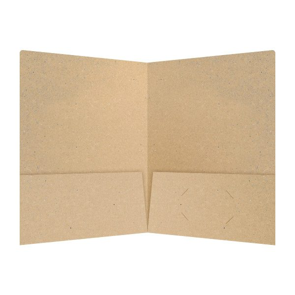 Hines Co. Kraft Paper Folder (Inside View)