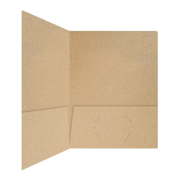Hines Co. Recycled Paper Folder (Inside Right View)