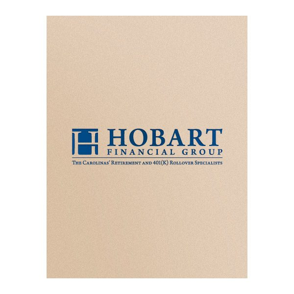 Hobart Financial Group Slip-In Photo Folder (Front View)