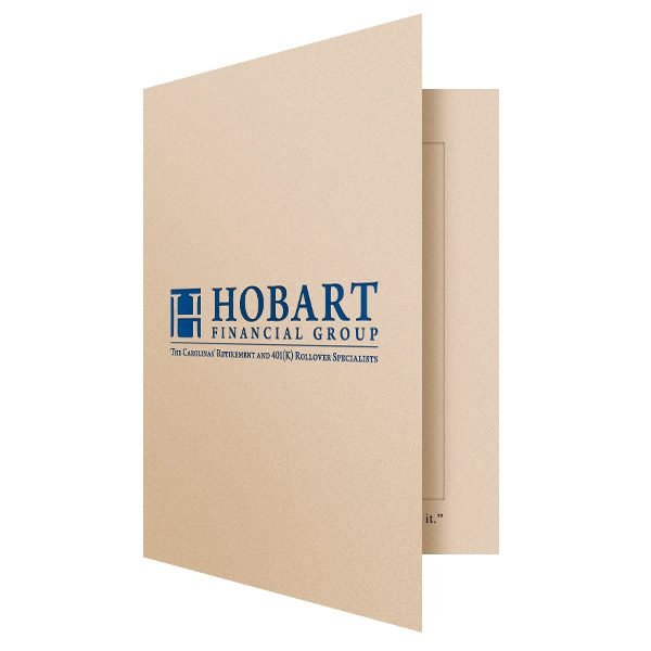 Hobart 5x7 Cardboard Photo Folder (Front Open View)