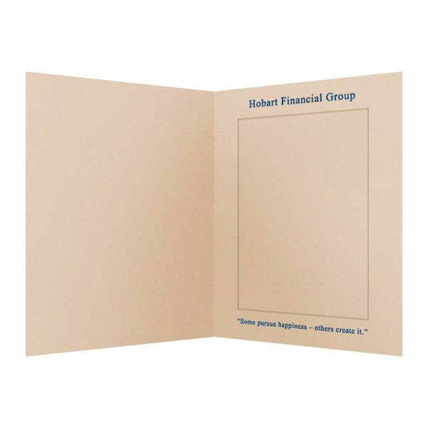 Hobart Financial Group Paper Photo Folder (Inside View)