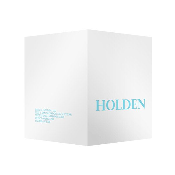 Cosmetic Presentation Folders for Holden Surgery (Front and Back View)