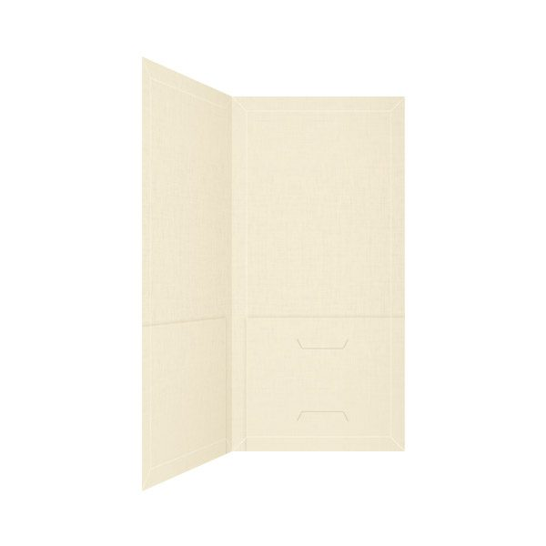 Holman's Funeral Service Tan Pocket Folder (Inside View)