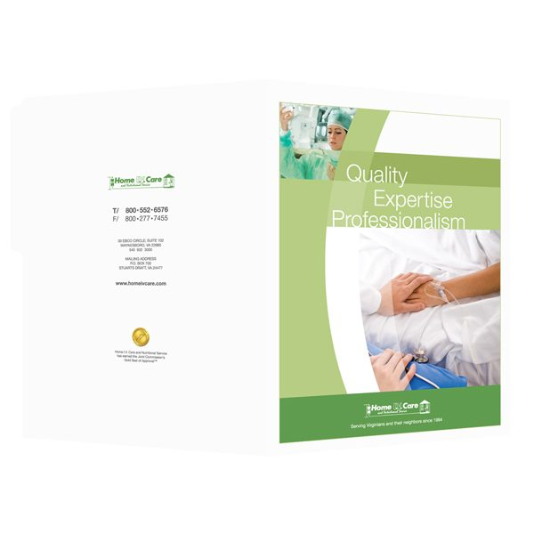 Home IV Care Tabbed Medical Folder (Front and Back View)