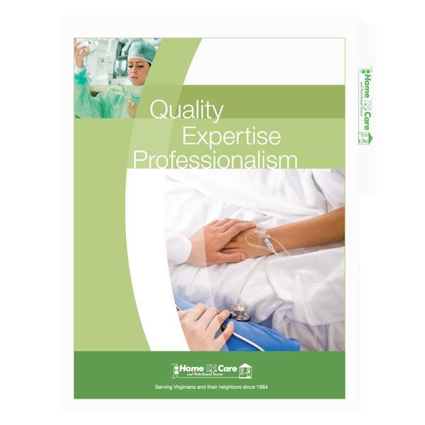 Folder Design: Medical File Folders for Home IV Care
