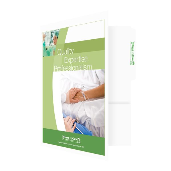 Medical File Folders for Home IV Care (Front Open View)