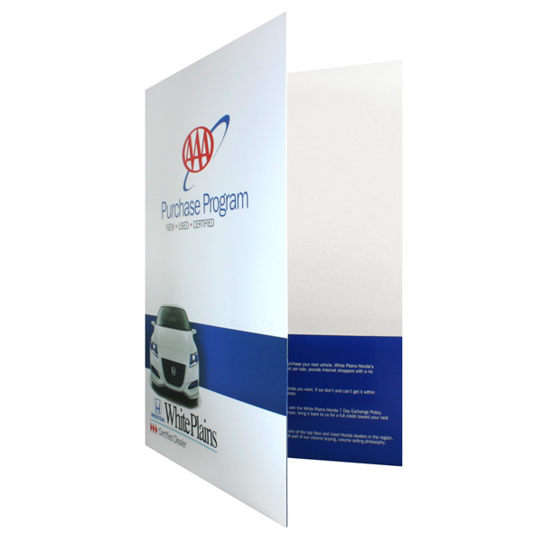 Honda-AAA New Car Purchase Presentation Folder (Front Open View)