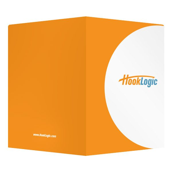 Marketing Presentation Folders by HookLogic (Front and Back View)