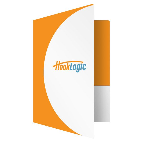 HookLogic Marketing Folders (Front Open View)