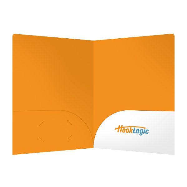 HookLogic Orange Presentation Folder (Inside View)