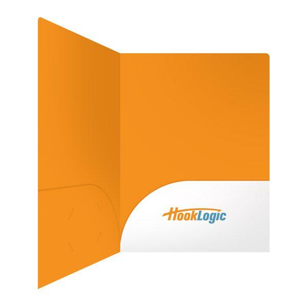 HookLogic Orange & White Logo Folder (Inside Right View)