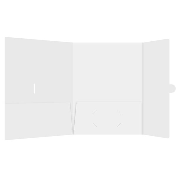 ITS/Magellan Blank White 2-Pocket Folder (Inside View)