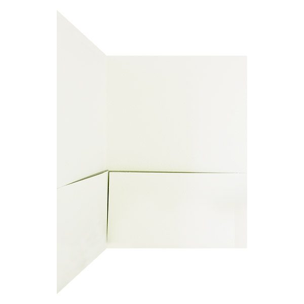 Hamilton Square White Pocket Folder (Inside Pocket View)