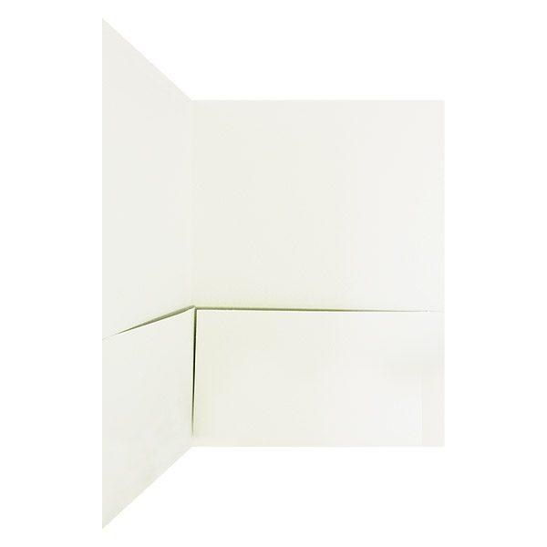 Hamilton Square White Pocket Folder (Inside Pocket View)